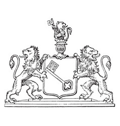 The great seal of bremen is a seal of europe vector