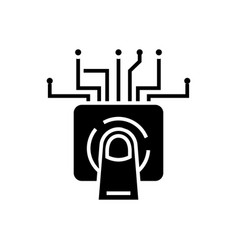 touchscreen technology icon vector image