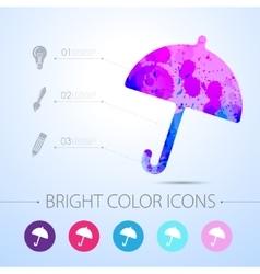 Umbrella icon with infographic elements vector