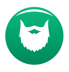 Villainous beard icon green vector