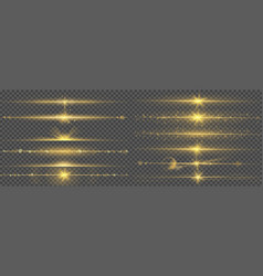 warm glow light lines glare abstract bright gold vector image