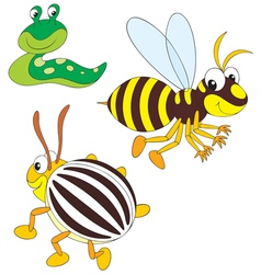 Wasp potato beetle and slug vector