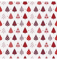 Winter celebration seamless background vector image