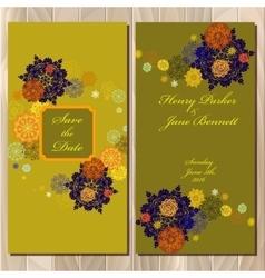 Winter snowflakes design wedding invitation card vector