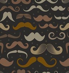 Different retro style moustache seamless patt vector image vector image