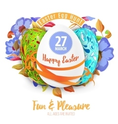 Easter egg hunt in the flowers design EPS 10 vector image vector image
