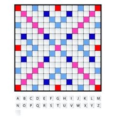 Scrabble set vector image vector image