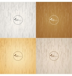 Set Light wood background vector image