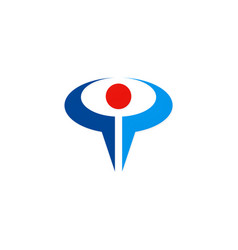 success person abstract sport logo vector image