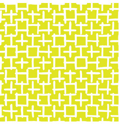 abstract hand drawn seamless pattern yellow vector image vector image