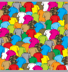 background pattern with t-shirts vector image vector image