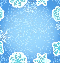 Blue Christmas greeting background vector image