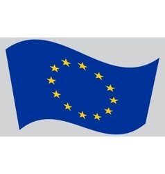 Flag of Europe European Union waving vector image