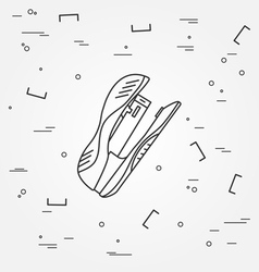 Stapler Icon Stapler Icon Stapler Icon Drawing Sta vector image