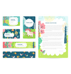 Business cards with color vector