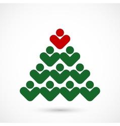 Christmas social tree vector image