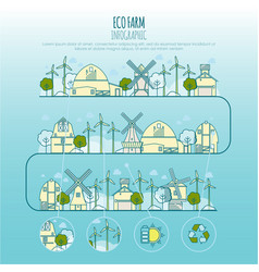 ecology farm infographic template with vector image vector image