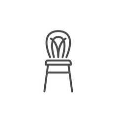modern chair line icon vector image vector image