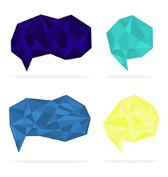 Set of trendy crystal shapes vector image