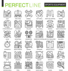 sport equipment outline mini concept symbols vector image