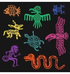 aztec symbols or inca pattern culture signs vector image vector image
