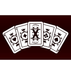 four aces and joker vector image