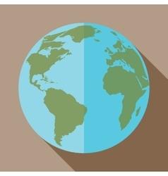 icon of globe vector image