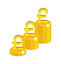 pound growing stacks vector image