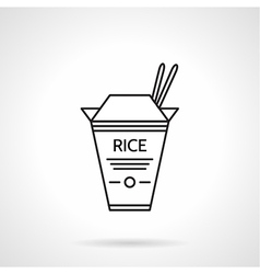 Rice pack black line icon vector image