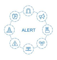8 alert icons vector