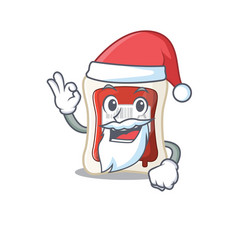 a picture santa blood bag mascot picture style vector image