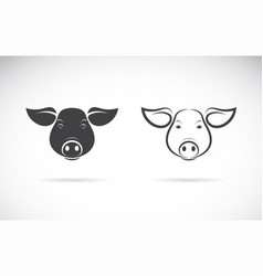 a pigs head design on a white background farm vector image