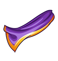 A violet-orange colored handkerchief vector