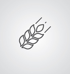Agriculture outline symbol dark on white vector image