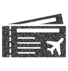 Airtickets Icon Rubber Stamp vector image