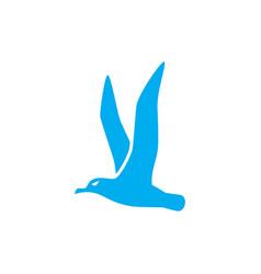 albatross bird icon design template isolated vector image