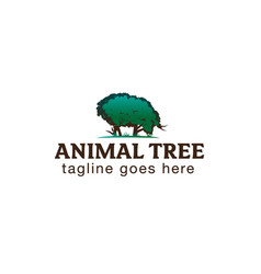 Animal tree shape vector