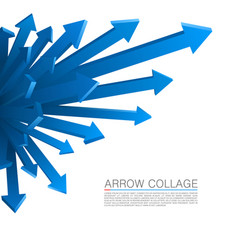 Arrow explosion blue vector