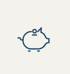banking pig with down money concept vector image