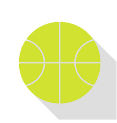 basketball ball sign pear icon with vector image