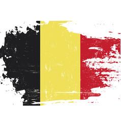 belgian scratched flag vector image