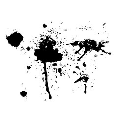 Black ink blot set vector