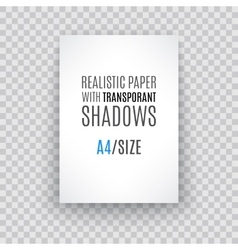 Blank sheet paper with page curl and shadow vector