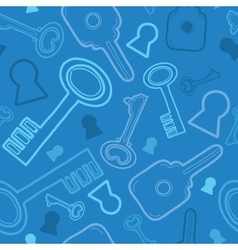 Blue keys seamless pattern background vector image