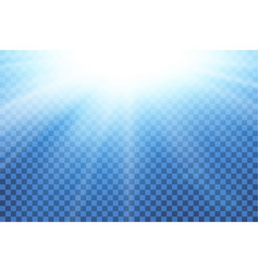 blue sky sun flare transparent background clear vector image