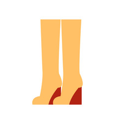 Boots at clothing store poster vector
