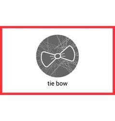 Bow tie outline contour vector
