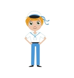 Boy Future Sailor vector image