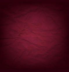 cardboard dark red wrinkles texture vector image