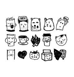 cartoon sketch vector image